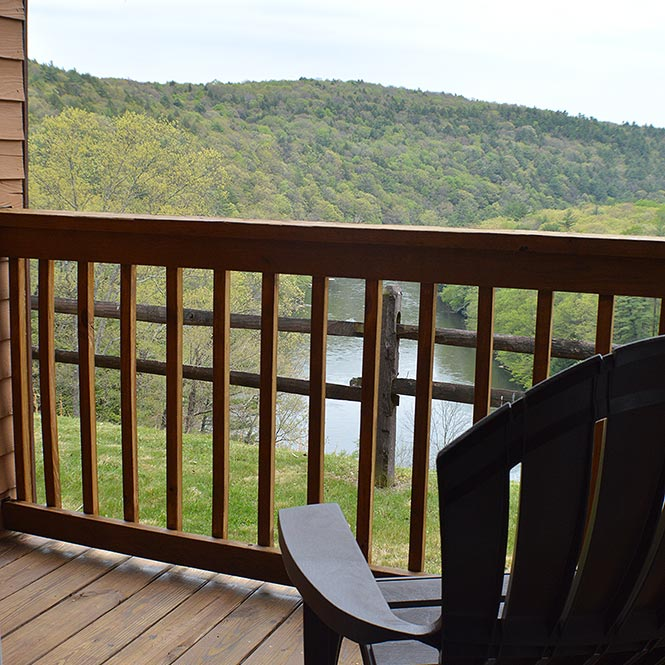Clarion River Suites Private Balcony Overlooking the Clarion River